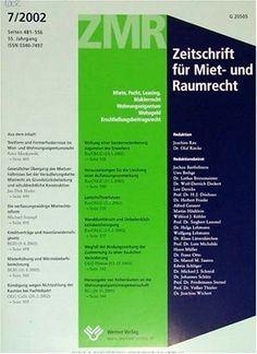 Zmr : Zeitschrift Fuer Miet- Und Raumrecht  http://www.allmagazinestore.com/zmr-zeitschrift-fuer-miet-und-raumrecht-2/