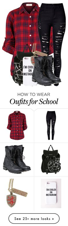 """""""Running Late To School"""" by creative-762 on Polyvore featuring moda, Missguided, PLDM by Palladium, women's clothing, women, female, woman, misses ve juniors"""