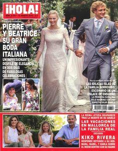 Capa da revista ¡HOLA! do Casamento de Pierre Casiraghi e Beatrice Borromeo.