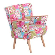 Lia Cocktail Chair Patchwork, 315€, now featured on Fab.