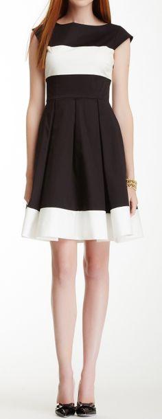Stripes pleated dress