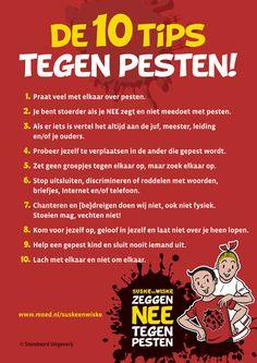 Media en Technologie in het Onderwijs» Suske en Wiske zeggen nee tegen pesten! | download de poster