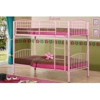Corfu Pink Bunk Bed - Only £199! http://www.grampianfurnishers.com/beds/MetalFrames/corfupinkbunkbed