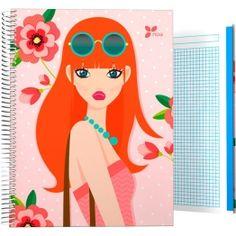 """Cuadernos Tapa Dura A4-A5-A6-A7 Archivador de la colección Noa y su serie """"Flores"""" 2017. Fabricada y distribuida por #Grafoplas del Noroeste S.A.  #papelería #materialescolar #papeleríabonita #diseño"""