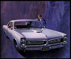 1967 Pontiac GTO by Art Fitzpatrick & Van Kaufman (Americans), genre: Illustration, Automotive Art 1967 Gto, 67 Pontiac Gto, Pontiac Tempest, Car Advertising, Us Cars, Vintage Trucks, American Muscle Cars, Custom Cars, Cool Cars