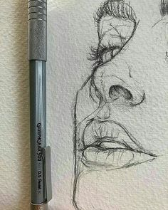 Love the rawness of ghis illustration sketches, drawing sketches, portrait sketches, sketch art Portrait Sketches, Drawing Sketches, Cool Drawings, Drawing Tips, Drawing Ideas, Drawing Faces, Sketch Ideas, Face Sketch, Sketches Of Faces