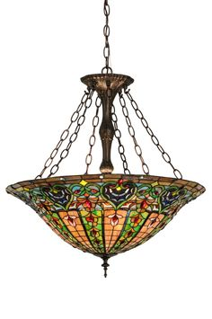 "Meyda 24""W Bella Inverted Pendant"