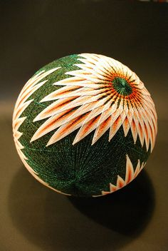 """THESE Intricate and Extraordinarily beautiful Embroidered Silk balls Are a form of Japanese Folk Art called Temari , Which Means """"hand Ball"""" in Japanese. Folk Embroidery, Japanese Embroidery, Hand Embroidery Patterns, Embroidery Designs, Embroidery Stitches, Embroidery Supplies, Modern Embroidery, Bordado Popular, Arte Linear"""