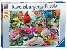 Ravensburger puzzle 500 piezas jardín de pájaros de colores