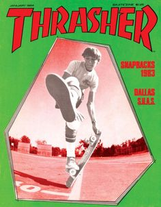 Rodney Mullen on the cover of Thrasher Magazine (1984)