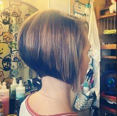 Classic Stacked Short Bob Cut - Short Straight Hairstyles 2015- 2016