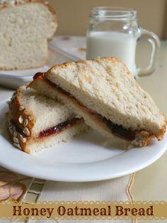 honey oatmeal bread recipe makes a lightly sweet, soft sandwich bread. Best ever!