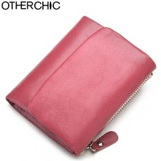 OTHERCHIC Genuine Leather Women Short Wallets Sheep Skin Small Soft Trifold Wallet Purse Wallet Female Purses Money Clip 6N12-39
