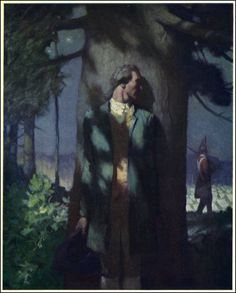 ritasv: Illustration of Nathan Hale by N. Wyeth I love this painting. Wyeth was an incredible artist. Jamie Wyeth, Andrew Wyeth, Illustrations, Children's Book Illustration, Nocturne, Nathan Hale, Nc Wyeth, Howard Pyle, Chef D Oeuvre