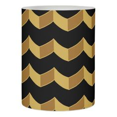 Black Gold Flameless Candle - patterns pattern special unique design gift idea diy