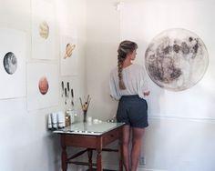 morning light and the moon Karten Diy, Art Hoe, Morning Light, My New Room, Art Studios, Art Inspo, Artsy Fartsy, Painting & Drawing, Art Drawings