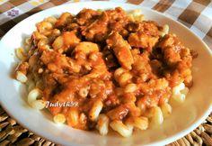 Borsos csirketokány egyszerűen Chicken Wings, Shrimp, Meat, Recipes, Food, Red Peppers, Recipies, Essen, Meals