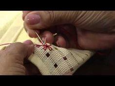 Mulher.com 20/02/2014 Leila Jacob - Toalha de visita crivo Parte 1/2