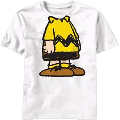 Peanuts - Charlie Brown Body T-Shirt Small White @ niftywarehouse.com #NiftyWarehouse #Peanuts #CharlieBrown #Comics #Gifts #Products