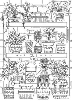 coloring pages - Plants Printable Adult Coloring Page from Favoreads Coloring book pages for adults and kids Coloring sheets Coloring designs Colouring Sheets For Adults, Printable Adult Coloring Pages, Coloring Pages For Boys, Coloring Pages To Print, Coloring Books, Kids Coloring, Tumblr Coloring Pages, Free Coloring Sheets, Colouring Pages