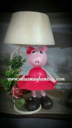 Pepa pig lámpara en cera