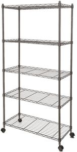 A Multipurpose Storage SolutionStrong and sturdy the Whitmor Supreme Shelving Unit features three four or five shelves that each hold up to 350 pounds. The small shelving unit has three shelves that. Steel Shelving Unit, Wire Shelving Units, Shelving Racks, Garage Shelving, Industrial Shelving, Shelf Units, Urban Industrial, Industrial Furniture, Closet Shelving