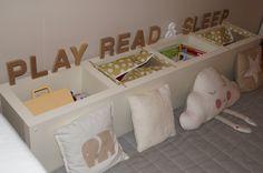 Ikea hacking Kids reading corner toy storage solution  ptitesmerveilles.blogspot.fr