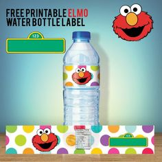 Nice FREE Printable Sesame Street Water Bottle Labels - Our Best Collections Elmo Birthday Invitations, Free Printable Birthday Invitations, Elmo Birthday Party Printables, Easter Printables, Seasame Street Party, Sesame Street Invitations, Printable Water Bottle Labels, Elmo Party, Sesame Street Birthday Party Ideas