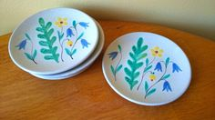 Upsala Ekeby Sweden five plates Anna Lisa Thomson by JohannasGaze