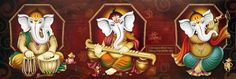 Avercart Lord Ganesha / Shree Ganesh / Shri Ganpati Poster 114x15 cm Unframed (19x6 inch rolled)