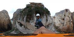 Tramo final del Caminito del rey 360 grados #360 #RutaPeligrosas #CasiAlpinismo +info:http://www.pacoyesther.com