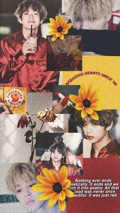 #vmin #aesthetic #lockscreen #red #yellow #kpop #bts #taehyung #jimin Vmin lockscreen aesthetic💛❤️🌻