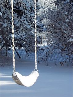 Snow Swing awaits the arrival of Spring only to hear the laughter of the child again.