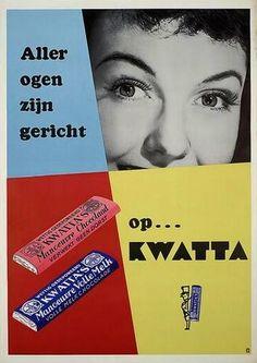Nostalgie; vervlogen tijden. Kent u het nog? Alles over vroeger Vintage Advertising Posters, Old Advertisements, Advertising Signs, Vintage Ads, Vintage Posters, Art Deco Posters, Poster Prints, Sweet Memories, Childhood Memories