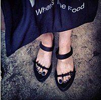 IM 歐美時髦DEMEULEMEESTER簡約皮質一字夾趾平底拖鞋/平底平跟中性露趾拖鞋 VII MINI | IM - 380