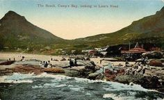 Posted by Martin Greshoff  to Cape Town Down Memory Lane. The beach, Camp's Bay, looking to Lion's Head.