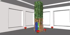 3D Generated Model of what we had planned for the Upcycle Makeover