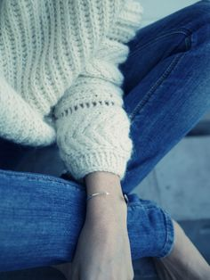 Style...Camilla Pihl  // casual cozy sweater and denim