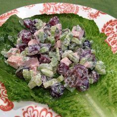 Crunchy Grape & Turkey Salad Roll-Up  Weight Watchers