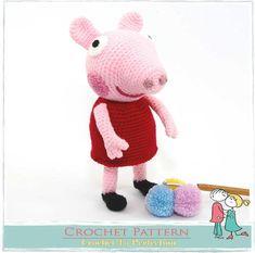 Peppa Pig y su osito amigurumi tutorial. - YouTube | Teddy bear ... | 233x235