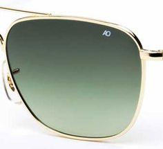 234ebff9a3 AO Eyewear Original Pilot Limited Edition Gradient Green Polycarbonate  Lenses Ao Sunglasses
