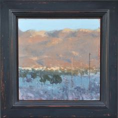 "Winter Hills at Sunset - 11"" x 11"" - $4400"