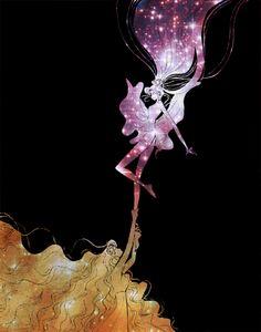 """Sailor Moon StarS"" manga - Usagi and Galaxia."