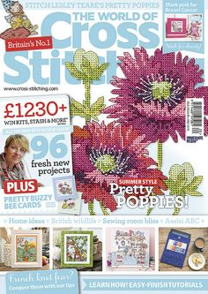 New issue is here! Issue 220, on sale 14 August - look for your latest issue of The World of Cross Stitching now! On sale in a supermarket or newsagent near you, or in the US, check out bookstores like Barnes & Noble and craft stores like JoAnn's. Find it as a digital edition too for your device ;)