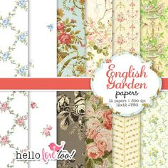 english garden papers