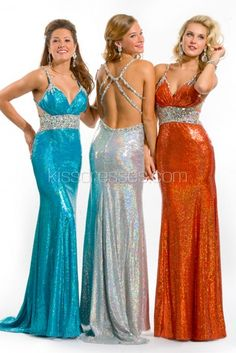 Spaghetti Strap sequined prom dress with  Crystal Beading waistband and Mid Thigh Slit http://www.kissdresses.com/cheap-prom-dresses/long-prom-dresses/spaghetti-strap-sequined-prom-dress-with-crystal-beading-waistband-and-mid-thigh-slit.html