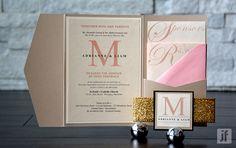 Glamorous Gold Wedding Invitation by JFietzDesign on Etsy https://www.etsy.com/listing/183598000/glamorous-gold-wedding-invitation