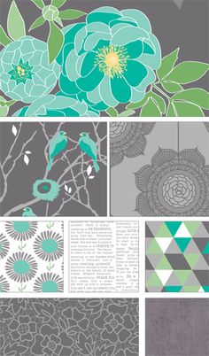 Love The Cottage Garden collection by The Quilted Fish for Riley Blake Designs