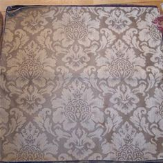 Taupe Colored Victorian Flower Print Fabric Upholstery Fabric Remnant | eBay