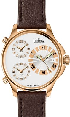 The COSMOPOLITAN II by Charmex of Switzerland™; luxury Swiss Made wrist watches on the official Charmex of Switzerland™ website Time Zones, Cosmopolitan, Two By Two, Quartz, Watches, Luxury, Switzerland, Accessories, Larger